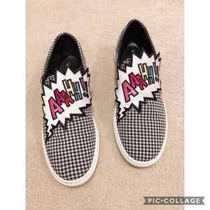Mira Mikati AAHHH black & White Slip On Sneaker 38